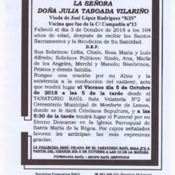 DOÑA JULIA TABOADA VILARIÑO
