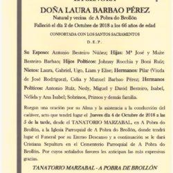 DOÑA LAURA BARBAO PÉREZ