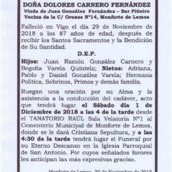 DOÑA DOLORES CARNERO FERNANDEZ