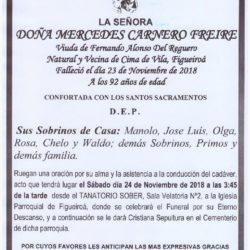 DOÑA MERCEDES CARNERO FREIRE