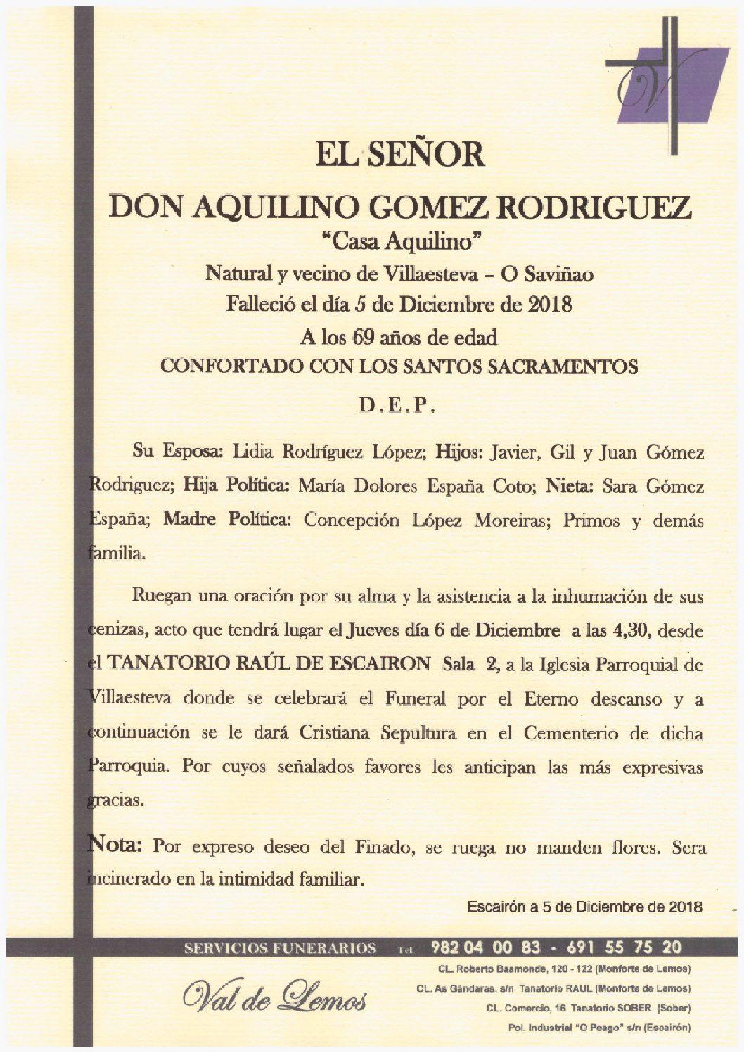 DON AQUILINO GOMEZ RODRIGUEZ