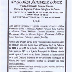DOÑA GLORIA ALVAREZ LOPEZ