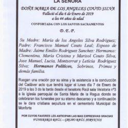 DOÑA MARIA DE LOS ANGELES COUTO SILVA