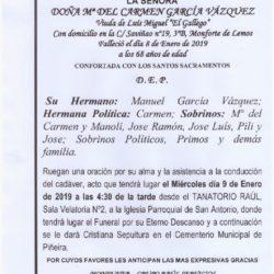 DOÑA MARIA DEL CARMEN GARCIA VAZQUEZ
