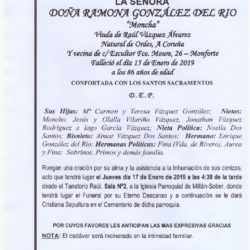 DOÑA RAMONA GONZALEZ DEL RIO