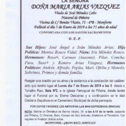 DOÑA MARIA ARIAS VAZQUEZ