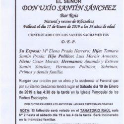 UXIO SANTIN SANCHEZ