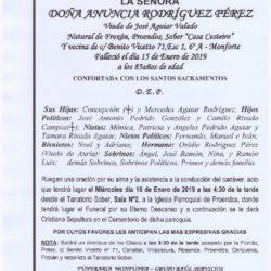 DOÑA ANUNCIA RODRIGUEZ PEREZ