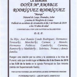 DOÑA MARIA AMABLE RODRIGUEZ RODRIGUEZ