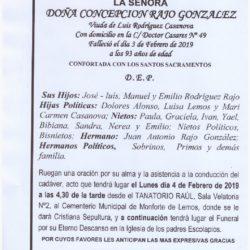 DOÑA CONCEPCION RAJO GONZALEZ