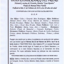 DOÑA ESTHER RODRÍGUEZ FREIRE