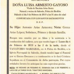 DOÑA LUISA ARMESTO GAYOSO