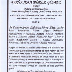 DOÑA ANA PEREZ GOMEZ