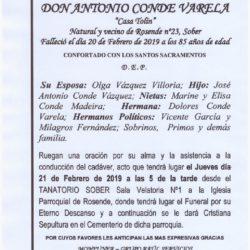 DON ANTONIO CONDE VARELA