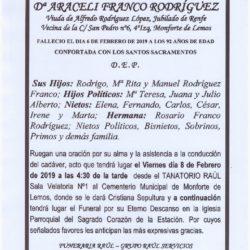 DOÑA ARACELI FRANCO RODRIGUEZ