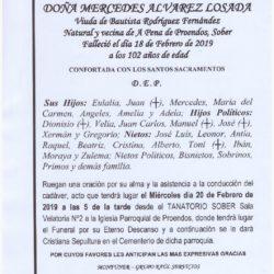 DOÑA MERCEDES ALVAREZ LOSADA
