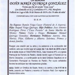 DOÑA MARIA QUIROGA GONZALEZ