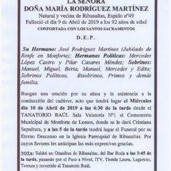 DOÑA MARIA RODRIGUEZ MARTINEZ