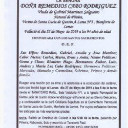 DOÑA REMEDIOS CABO RODRIGUEZ