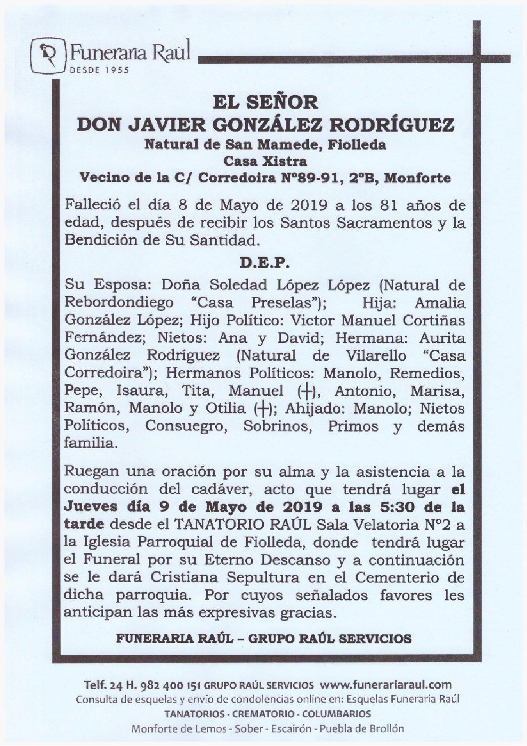 DON JAVIER GONZALEZ RODRIGUEZ