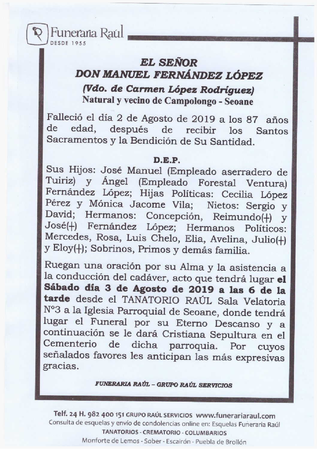 DON MANUEL FERNANDEZ LOPEZ