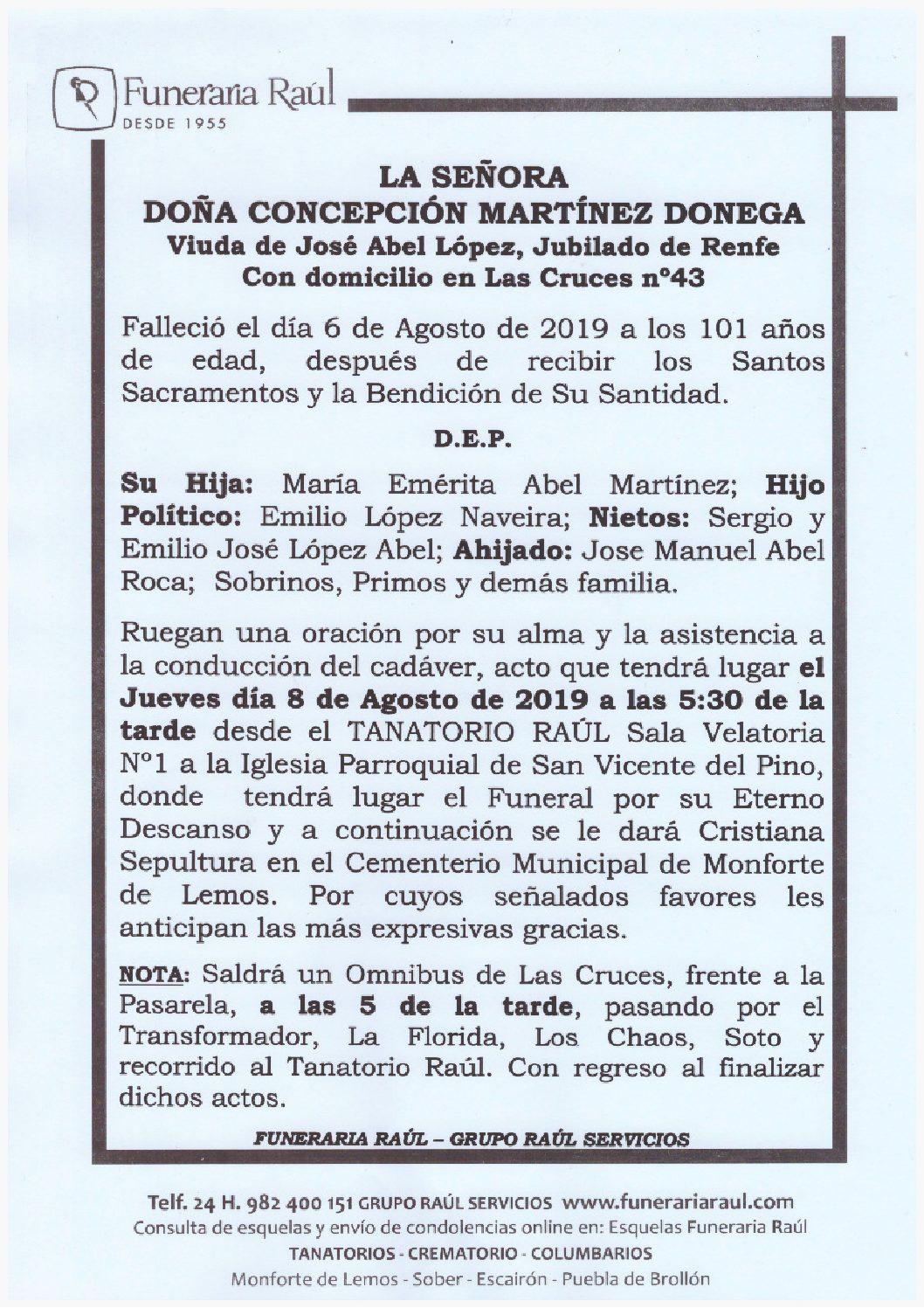 DOÑA CONCEPCION MARTINEZ DONEGA