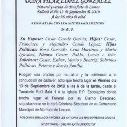 DOÑA PILAR LOPEZ GONZALEZ