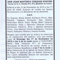 DON JUAN BAUTISTA VAZQUEZ FOUCES