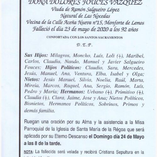 DOÑA DOLORES FOUCES VAZQUEZ