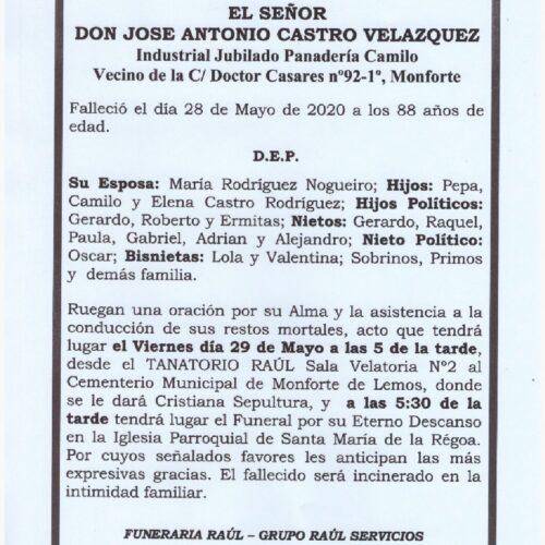 DON JOSE ANTONIO CASTRO VELAZQUEZ