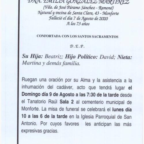 DOÑA EMILIA GONZALEZ MARTINEZ