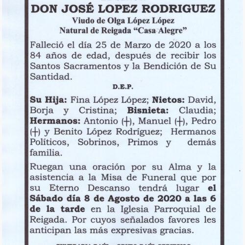DON JOSE LOPEZ RODRIGUEZ