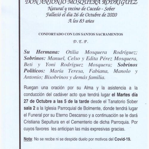 DON ANTONIO MOSQUERA RODRIGUEZ