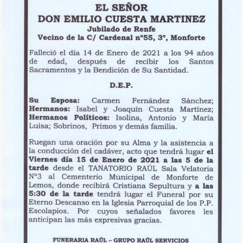 DON EMILIO CUESTA MARTINEZ