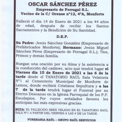 OSCAR SANCHEZ PEREZ