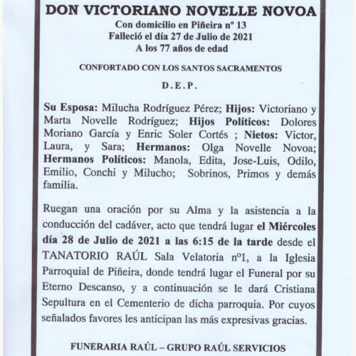 DON VICTORIANO NOVELLE NOVOA