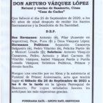 PRIMER ANIVERSARIO DE DON ARTURO VAZQUEZ LOPEZ